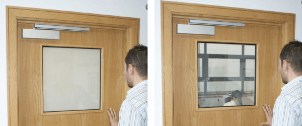 switchable smart glass vision panel