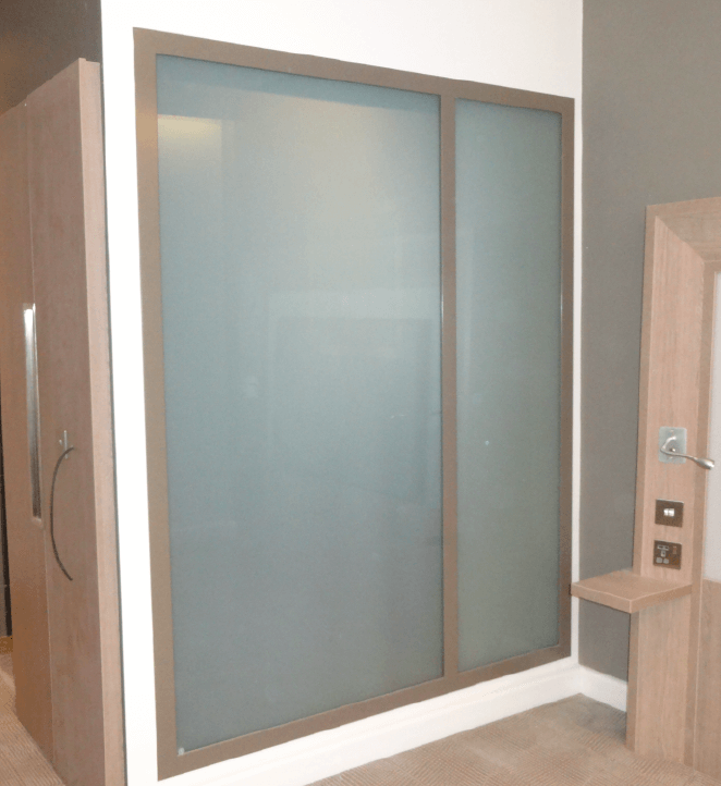 Smart Glass shower privacy screen