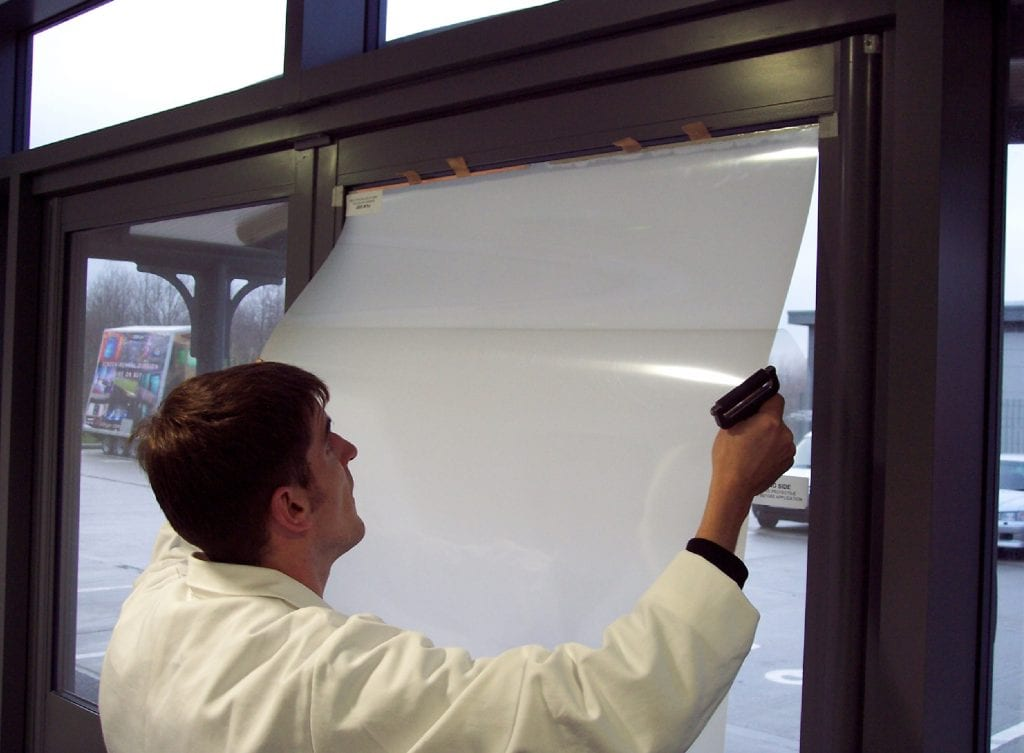 Self-Adhesive Switchable Film installation