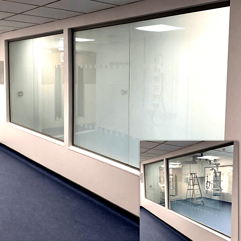 NHS Smart Glass privacy screen