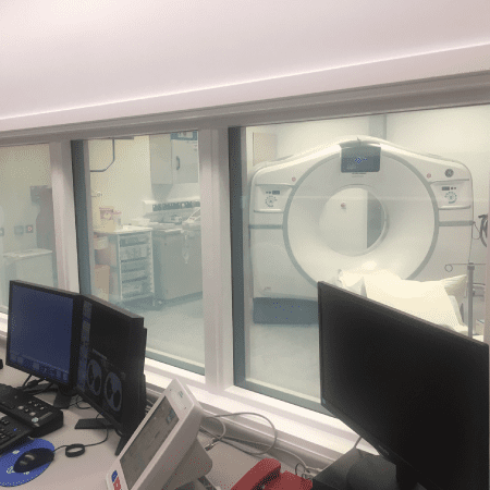 Smart Glass in hospital observation room