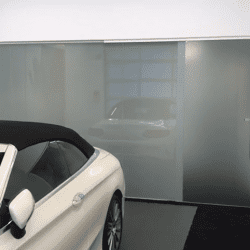 switchable smart glass reveal screen