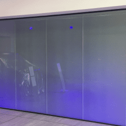 Mercedes switchable smart glass partition